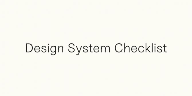 design-system-checklist